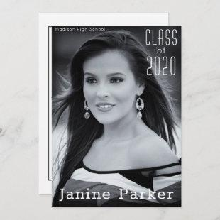 Graduation Class of Add Your Own Photo Custom Announcement