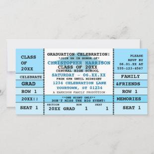 Graduation Concert Ticket Party Invitation
