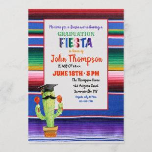 Graduation Fiesta With Cap Invitation