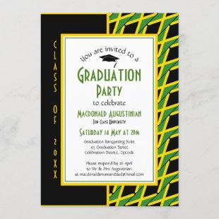 GRADUATION JAMAICA Jamaican Patriotic Invitation