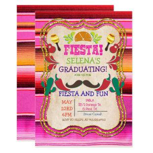 Graduation Mexican Fiesta Invitation