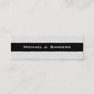 Graduation Name Cards - Silversand and Black