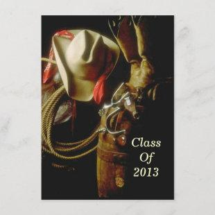 Graduation Party 2013 Hosting Western Theme Party Invitation
