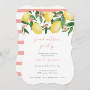 Graduation Party for Female with Lemons Theme