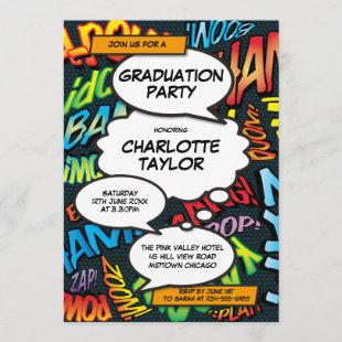 Graduation Party Fun Comic Book Class of 2020 Invitation