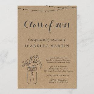 Graduation Party Invitation | Rustic Kraft Paper