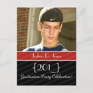 Graduation party invite postcards