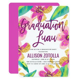 Graduation Party Luau Tropical Party Invitation