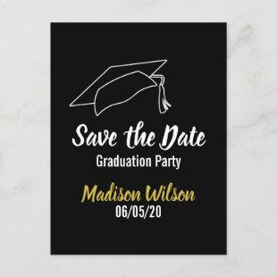 Graduation Party Save the Date Announcement Postcard