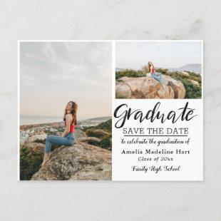 Graduation Party | Save The Date Multi Photo Announcement Postcard