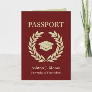 graduation passport invitation