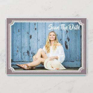 Graduation Photo Card Modern Vintage Save The Date