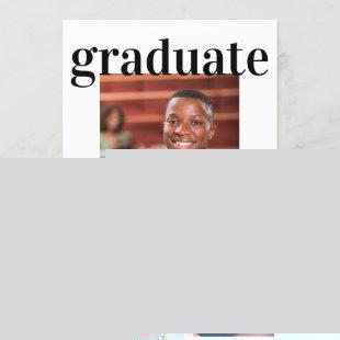 Graduation Photo Frame Modern Drive Through Party Invitation