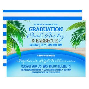 Graduation Pool Party Invitation