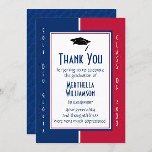 GRADUATION THANK YOU Personalized Christian Invitation