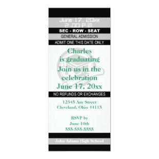 Graduation Ticket Party Invitation