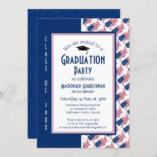 GRADUATION USA America Patriotic Invitation