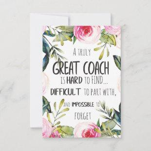 Great Coach typography Office decor Coach gift