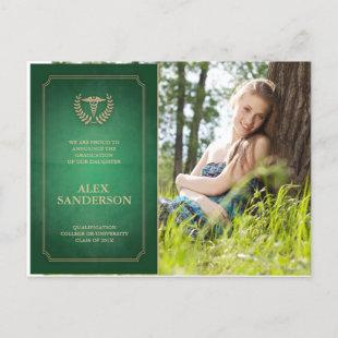 Green/Gold Medical School Graduation Announcement