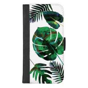 Green Tropical Palm Leaves iPhone Wallet