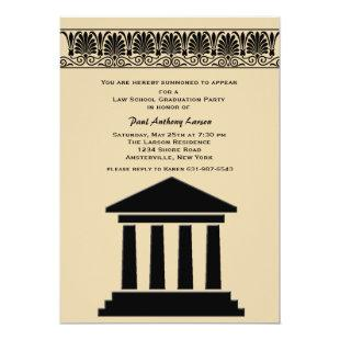 Hall of Justice Graduation Party Invitation