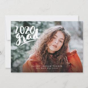 Handlettered Class of 2020 Full Photo Graduation Announcement