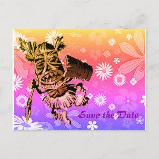 Hawaiian design announcement postcard