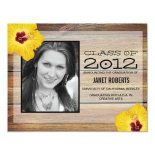 Hawaiian Photo Graduation Invitation