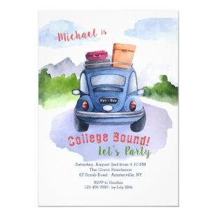 Heading Out College Bound Party Invitation