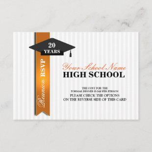 High School Class Reunion RSVP Invitation