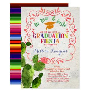 High School Graduation Party Fiesta Invitation