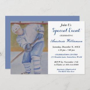 HOCKEY GAME PARTY EVENT INVITE