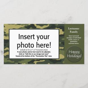 Holiday Photo Card - Tan Camo