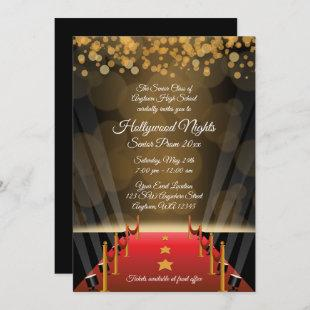 Hollywood Red Carpet Prom Formal Invitations