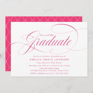 Hot Pink | Eloquence Graduation Party Invitation
