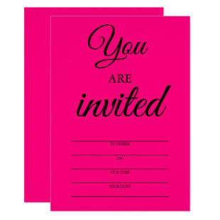 Hot Pink Invitations to Soiree