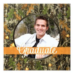 Hunting Camo Graduation Party Invitation