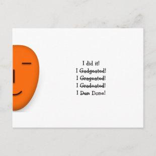 I did it Funny Misspelling Graduate Graduation Day Announcement Postcard