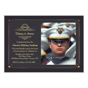 In A Grand Manner Photo Graduation Invitation