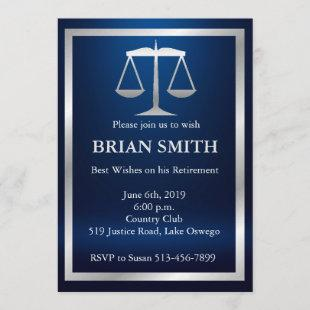Judge Lawyer Retirement Law School Graduation Invitation