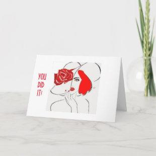 "JUST FOR ""HER""-HAPPY FOR YOU-YOU DID IT! CARD"