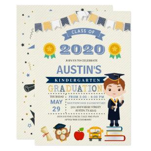 Kids School Graduation Announcement Invitation