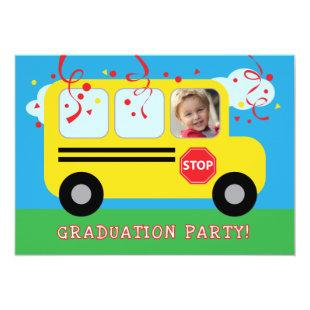 Kindergarten or Preschool Graduation Photo Invitat Invitation