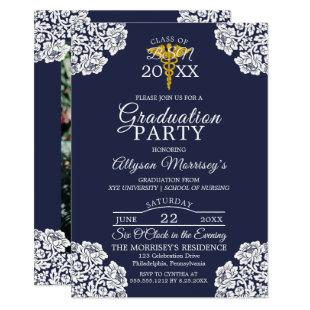 Lace Photo Nursing School | Medical Graduation Invitation