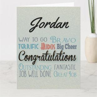 Large Monogram Congratulations Greeting Card