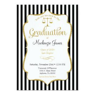 Law School Graduation Announcement Invitation