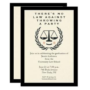 Law School Graduation Party Invitation