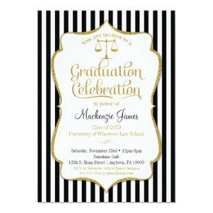 Law School Graduation Party Invitation Lawyer