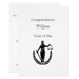 Law School Graduation, Scales of Justice Invitation
