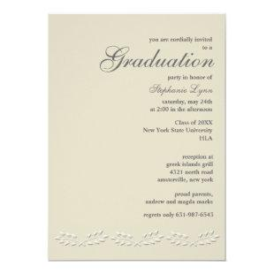 Leaf Accents Graduation Invitation